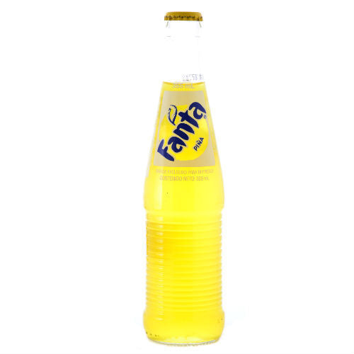 Mexican Fanta Pineapple with Pure Sugar - 12 oz (12 Glass Bottles)