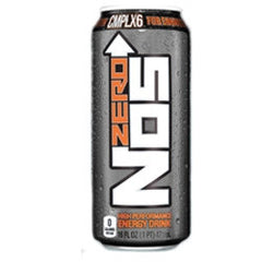 NOS Zero Energy Drink - 16 oz. (12 Pack) - Beverages Direct