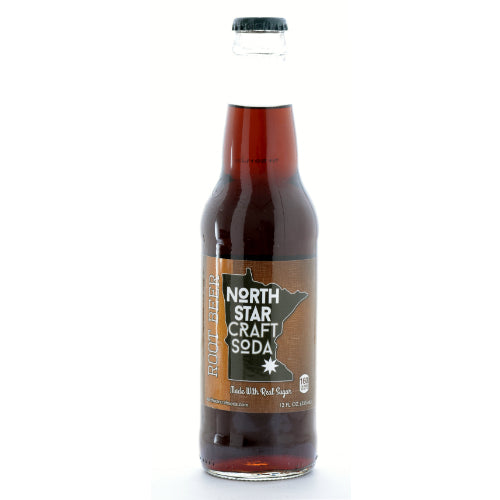 North Star Craft Soda Vanilla Cream - 12 Oz (12 Bottles)