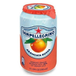 San Pellegrino Aranciata Rossa (Blood Orange) - 11.5 oz (12 Pack) - Beverages Direct