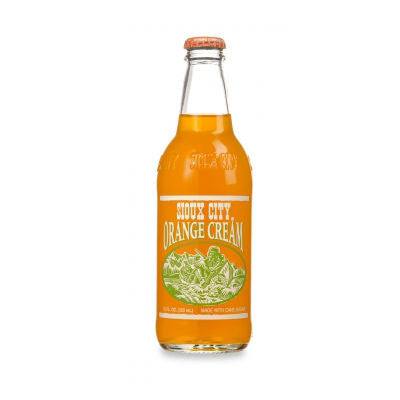 Sioux City Orange Cream Soda - 12 oz (12 Glass Bottles)