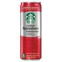 Starbucks Refreshers Strawberry Lemonade - 12oz (12 Pack) - Beverages Direct