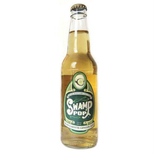 Swamp Pop Jean Lafitte Ginger Ale - 12 oz (12 Glass Bottles)