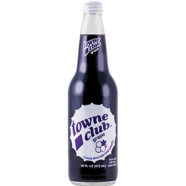 Towne Club Grape 16 oz (12 Glass Bottles)
