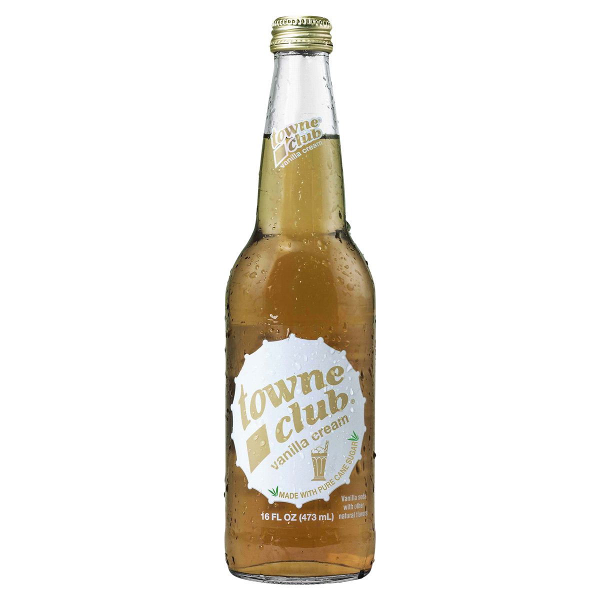 Towne Club Vanilla Cream 16 oz (12 Glass Bottles)