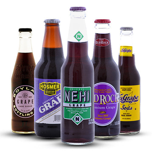 Ultimate GRAPE Soda Sampler - 12 oz (12 Bottles)