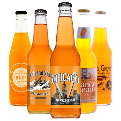 Ultimate ORANGE Soda Sampler - 12 oz (12 Bottles)