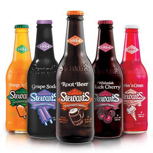 Stewart's Soda Sampler - 12oz (12 Glass Bottles)