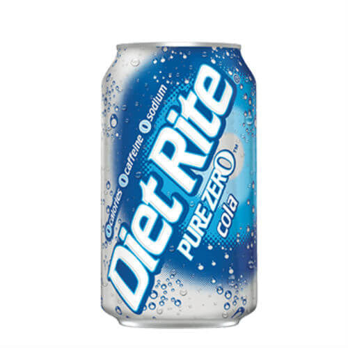 Diet Rite Pure Zero Cola - 12 oz Cans (12 Cans)
