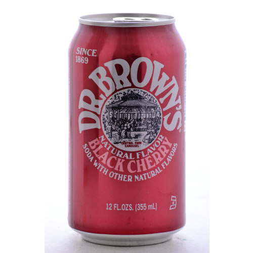 Dr. Brown's Black Cherry - 12 oz (12 Pack) - Beverages Direct