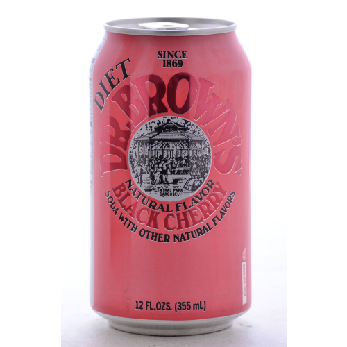 Dr. Brown's Diet Black Cherry Soda - 12oz Cans (12 Pack) - Beverages Direct