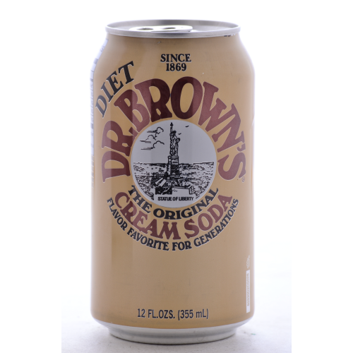 Dr. Brown's Diet Cream Soda - 12oz Cans (12 Pack) - Beverages Direct