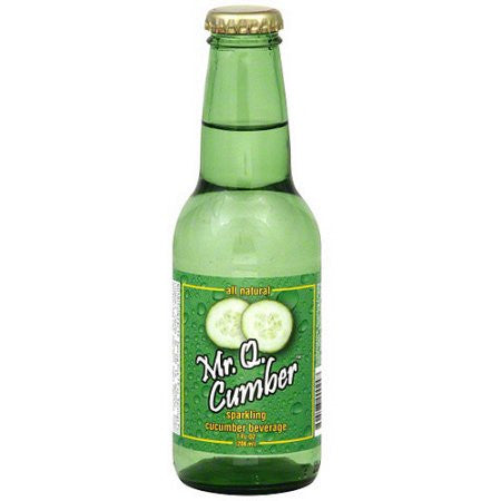 Mr Q Cucumber Soda - 7 OZ (24 Glass Bottles)