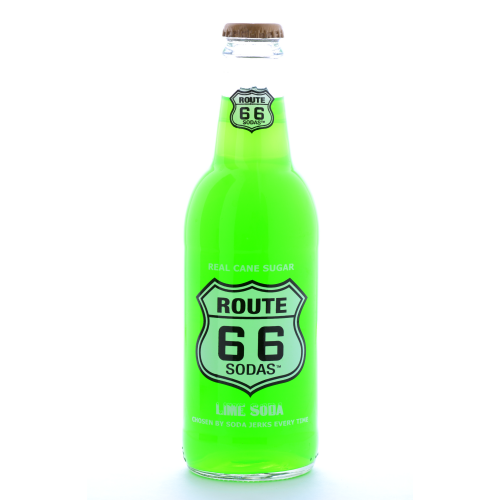 Route 66 Lime Soda - 12 oz (12 Pack) - Beverages Direct