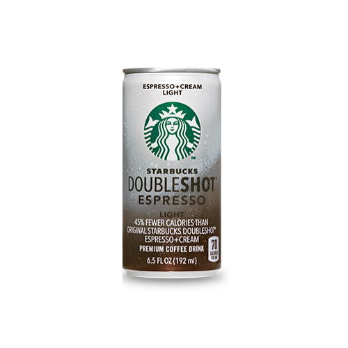 Starbucks DoubleShot Light Espresso & Cream - 6.5 oz. Cans (12 Pack) - Beverages Direct