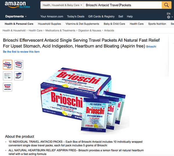 Brioschi on Amazon.com
