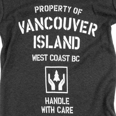 Property of Vancouver Island Baby Onsie