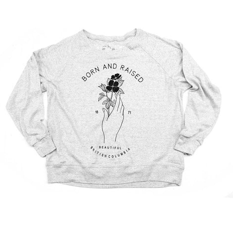 Women's Born & Raised BC Slouchy Raglan Sweater