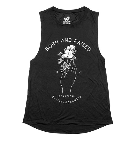 Born and Raised BC Ladies Muscle Tank
