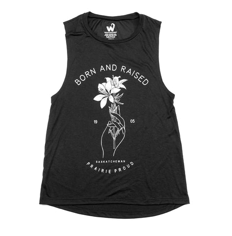 Born and Raised SK Ladies Muscle Tank