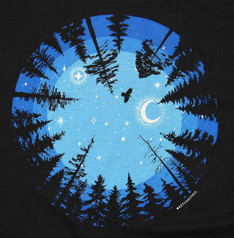 Adult Unisex Eye of The Forest T-shirt