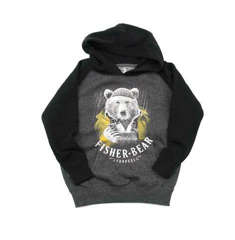 Fisher Bear toddler pullover raglan hoody
