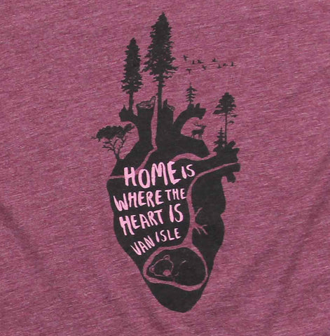 Women's Home is Where the Heart is Scoop-neck