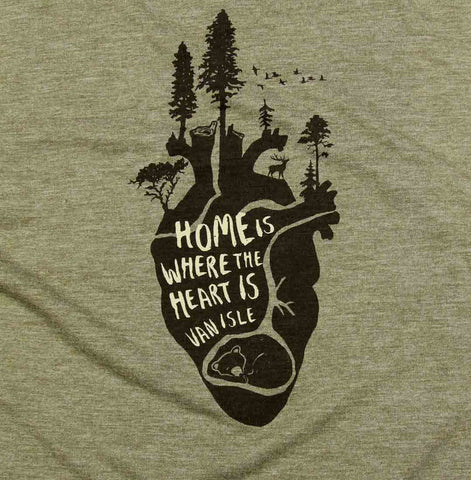 Home is Where the Heart is Ladies Muscle Tank