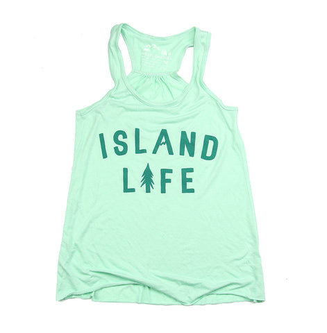 Women's Island Life Racer Back Tank Top
