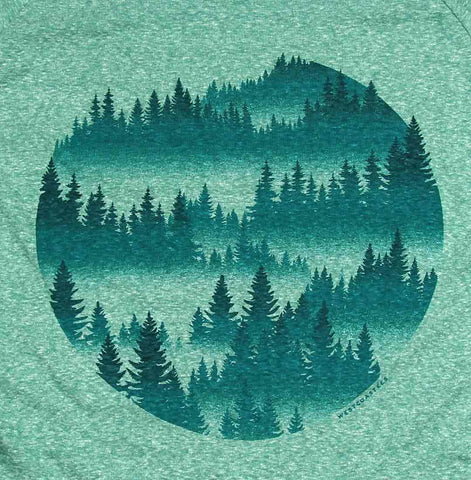 Misty Forest Slouchy Raglan Sweater