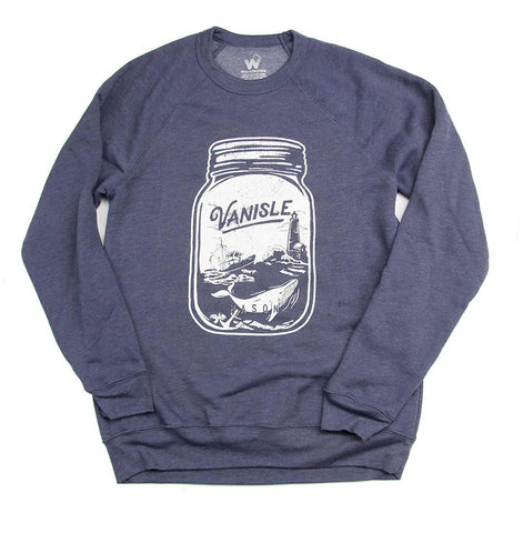 Women's Ocean Mason Jar ladies crew-neck sweater