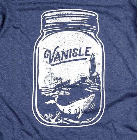 Ocean Mason Jar V-neck t-shirt