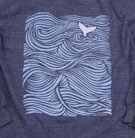 Ocean Tail Slouchy Raglan Sweater