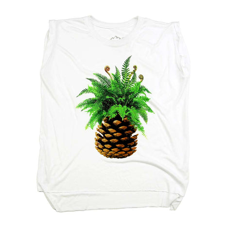 West Coast Pineapple Ladies Muscle Tee