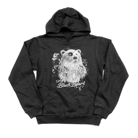Captain Black Bear'd Youth Pull-over Hoody