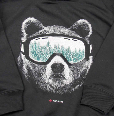 Ski Bear toddler pullover hoody