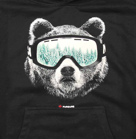 Ski Bear youth pullover hoody