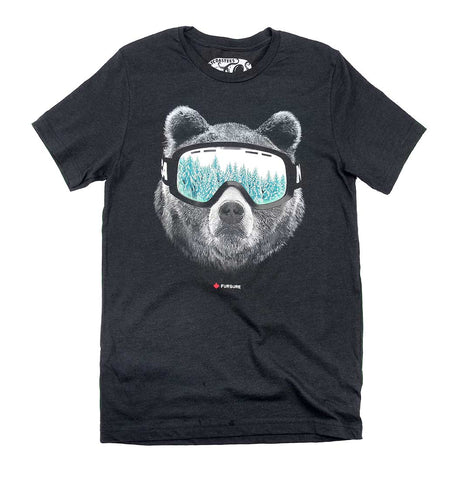 Adult Unisex Ski Bear T-shirt