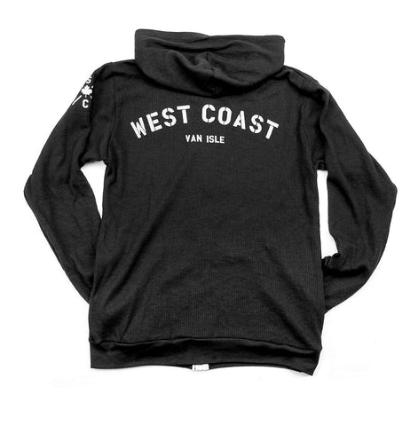 Adult Unisex West Coast thermal waffle zip-up hoodie