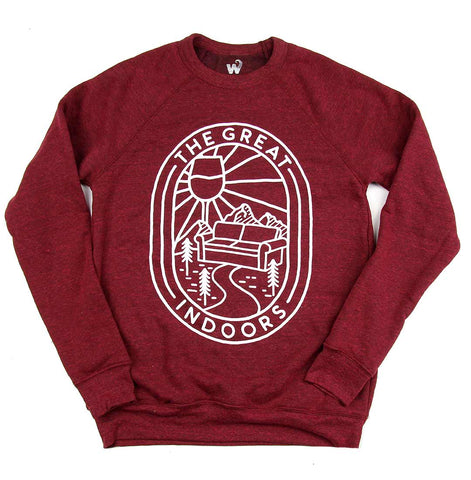 Unisex The Great Indoors crew-neck fleece sweater