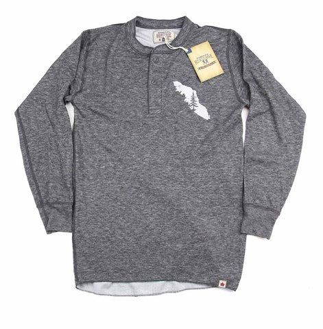 Adult Unisex Van Isle Map Stanfield's Merino Wool Henley