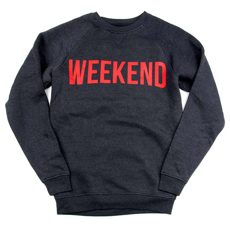 Unisex WEEKEND crew-neck fleece sweater