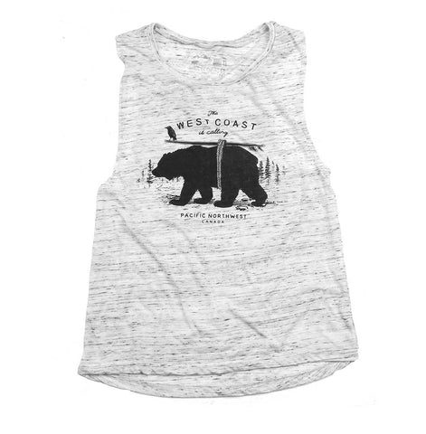 Women's West Coast Calling Muscle Tank Top