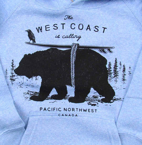 West Coast Is Calling toddler pullover hoody