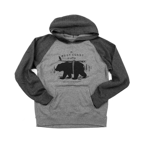 West Coast is Calling youth pullover hoody
