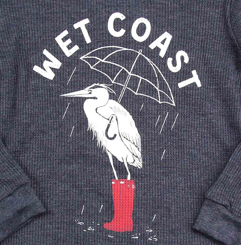 Wet Coast Heron Toddler Thermal Sweater