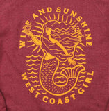 Wine and Sunshine ladies crewneck sweater