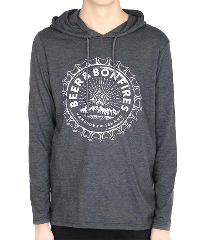 Adult Unisex Beer & Bonfires light-weight Hoodie