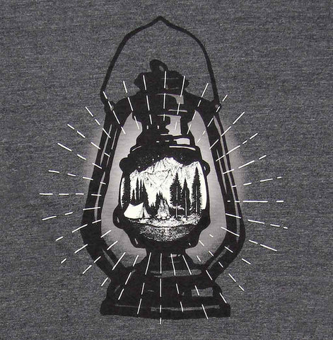 Adult Unisex Glowing Lantern T-shirt