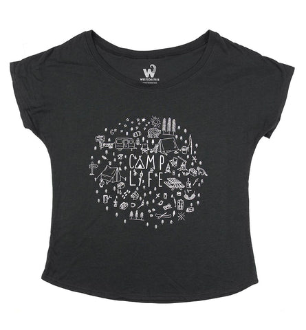 Women's Camp Life Dolman Tee